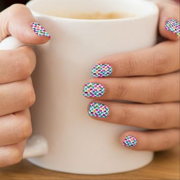 Minx Nails Abstract Floral Spots