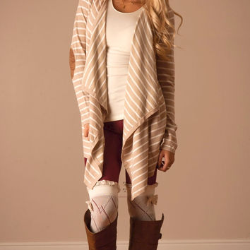 Lady Luck Striped Cardigan (Oatmeal)