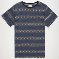 Ambig Platt Mens T-Shirt Navy  In Sizes