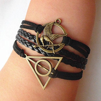 Welcome to my store, Bracelet/harry potter deathly hallows Bracelet jewelry arrows Bracelet