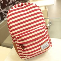 Red Striped Backpack