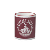Support Nepal Earthquake Relief- Any Colour Ringer Coffee Mug