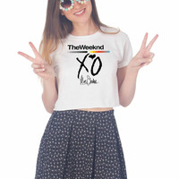 the weeknd xo For Womens Crop Shirt ***