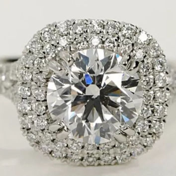 2.00 ct Lab Created Diamond Engagement Ring set in 14k Gold