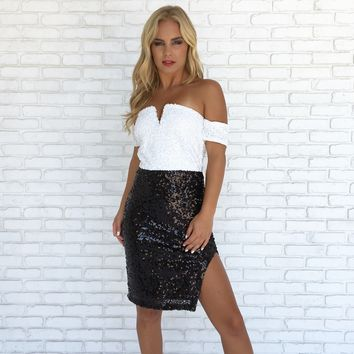 Christina Sequin Bodycon Dress
