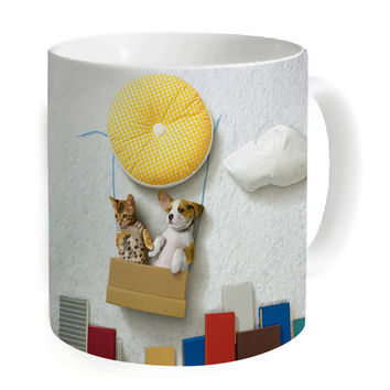 New Arrival Unique Coffee Mugs Custom Printed Gift Ceramic Tea Milk Juice Mug Kitchen Animal Cats Large Water Cups Home Travel