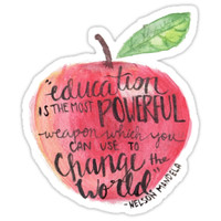 'Teacher quote' Sticker by Savannah James