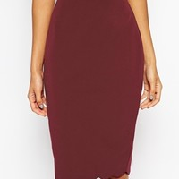 ASOS Pencil Skirt with Scallop Hem