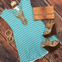 Striped Lace Detail Tunic