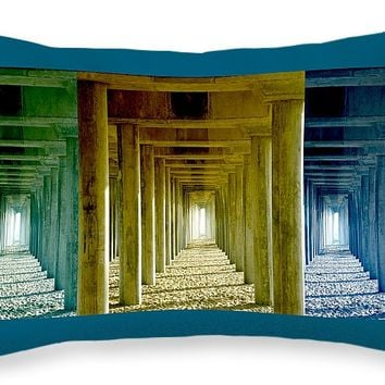 """Triple Perspective Throw Pillow for Sale by Ben and Raisa Gertsberg - 20"""" x 14"""""""