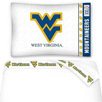 NCAA West Virginia Mountaineers Sheets Set College Bedding