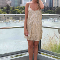 SEQUIN LOVE DRESS , DRESSES, TOPS, BOTTOMS, JACKETS & JUMPERS, ACCESSORIES, SALE, PRE ORDER, NEW ARRIVALS, PLAYSUIT, COLOUR,,Sequin,Gold Australia, Queensland, Brisbane