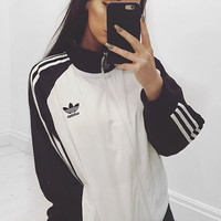 """Adidas"" Women Fashion Zip Cardigan Jacket Coat Sweatshirt"