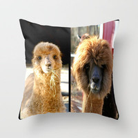 Theres something about an Alpaca Throw Pillow by Veronica Ventress | Society6
