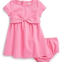 Infant Girl's kate spade new york kids 'kammy' bow dress & bloomers,