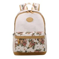 Tinotrade Girls Cute Canvas School Backpack Floral Print Bookbag:Amazon:Clothing