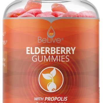 Immune Support Gummies with Elderberry, Echinacea, Propolis & Vitamin C