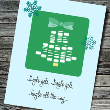 Jingle Gel Electrophoresis Christmas / Seasonal Card | Biology, Molecular Biology, Chemistry | Professor Student Teacher Scientist Engineer
