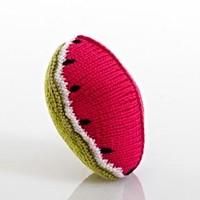 Watermelon Fair Trade Knitted Baby Rattle