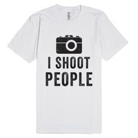I Shoot People-Unisex White T-Shirt