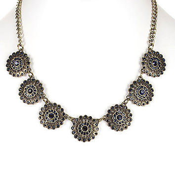 GORGEOUS AND SPARKLY FLORAL NECKLACE SET