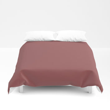 Marsala Duvet Cover by spaceandlines