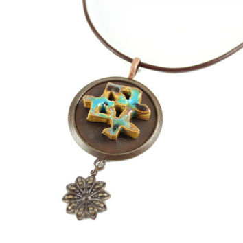 Handmade Japanese Symbol for Mother Necklace - Zen Jewelry - Mother's Day Gift Idea