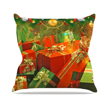 "Snap Studio ""Wrapped in Cheer"" Presents Throw Pillow"