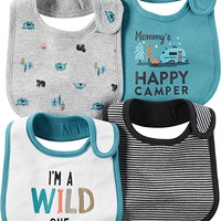 Baby Boys 4-Pack Happy Camper Bibs