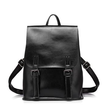 Realer Leather Convertible Backpacks Purse for Women