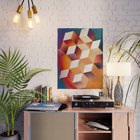 Oil Slick Cubes Poster by duckyb