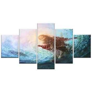 Large Size Canvas Prints Wall Art Jesus Save all beings in the lake Picture Printed on Canvas for Home Decorations Canvas