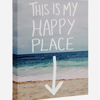 Happy Place Canvas Wall Art Multi One Size For Women 27339995701