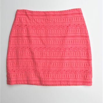 Skirt Eyelet Skirt Mini Skirt GAP Pink Reef Cotton Skirt NWT 2