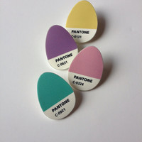 Pantone inspired Easter egg pin