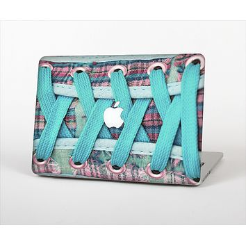 The Turquoise Laced Shoe Skin Set for the Apple MacBook Air 11""