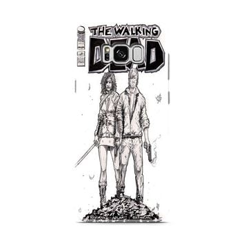 Walking Dead (michonne comics bw) Samsung Galaxy S8 | Galaxy S8 Plus Case