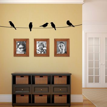 Birds on a wire Wall Decal - Bird Decal - Birds on a line Wall Sticker - Vinyl Wall Decor - Large