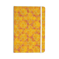 "Patternmuse ""Jaipur Saffron"" Yellow Orange Everything Notebook"