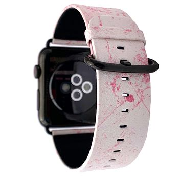 44mm & 42mm Vegan Leather Apple Watch Band - Dusty Pink