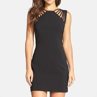 Women's Dress the Population 'Cora' Strappy Shoulder Sheath Dress,