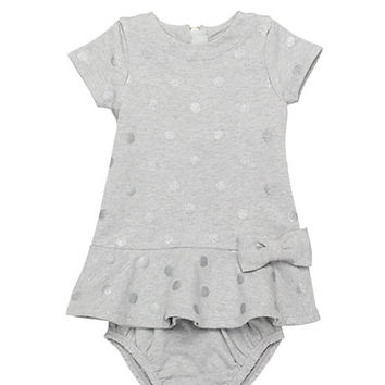 Kate Spade Babies' Dorothy Bow Dress And Bloomer Set Grey Heather