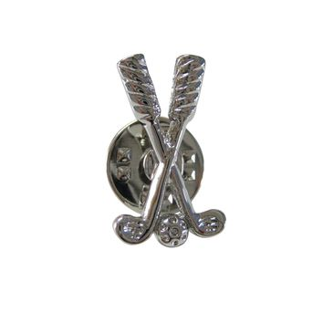 Crossing Golf Clubs Lapel Pin
