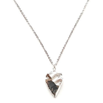 Arrowhead Pendant Necklace in Silver