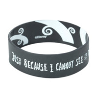 The Nightmare Before Christmas Just Because I Can't See Rubber Bracelet