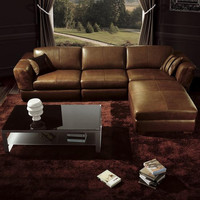 Divani Casa BO3960 Contemporary Brown Leather Living Room Furniture