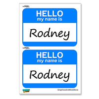 Rodney Hello My Name Is - Sheet of 2 Stickers
