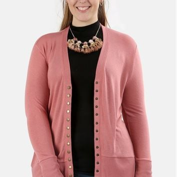 Plus Size Best-Selling Snap Button Cardigan - 8 Colors!