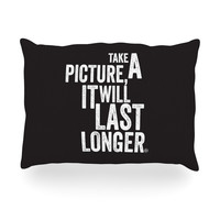 "KESS Original ""Take A Picture"" Oblong Pillow"