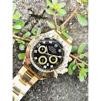 Rolex Classic Fashion Couple Movement Watch Leisure Personality Business Watches Wristwatch Golden